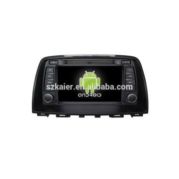 ANROID 4.4, Auto DVD mit Bluetooth, SPIEGEL-CAST, AIRPLAY, DVR, Spiele, Doppelzone, SWC für Mazda 6 2014