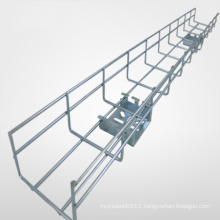 Silver aluminum-alloy cable tray wire mesh cable tray