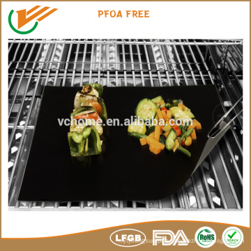 LFGB FDA certified high temperature resistance BBQ grill mat Non-sticky reusable set of 2 or 3