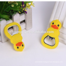 Fashion OEM soft PVC cheap beer bottle openers for promotion
