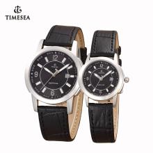 Qualidade couro genuíno tipo de quartzo esporte relógio de luxo 72193