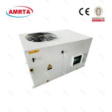 Unidad de aire acondicionado portátil empacado en la azotea