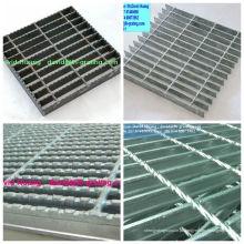 Grades de barras I galvanizadas, grades de barras planas galvanizadas, grades planas galvanizadas
