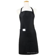 Kefei delantales culinarios en blanco de alta calidad promocionales delantal negro con bolsillos