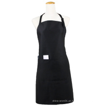 Kefei promocional de alta qualidade culinária em branco aventais avental preto com bolsos
