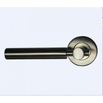 Polished Stainless Steel Solid Bedroom Door Handle