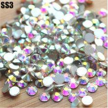 Strass Crystal Ab Flatback DMC Non Hotfix Rhinestones Non Hot Fix Crystal Stone (FB-SS3 crystal ab/3A)