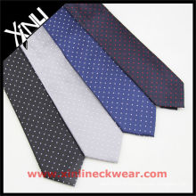 Points sur tissu de cravate tissé de soie différente de sol