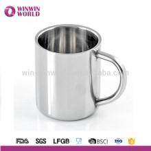 Tazas de café modificadas para requisitos particulares logotipo del acero inoxidable con la manija
