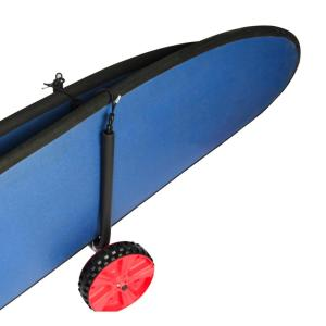 Aluminum double surfboard cart