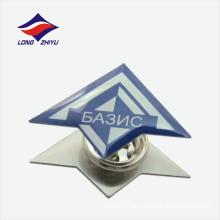 Unique butterfly clasp line logo lapel badge