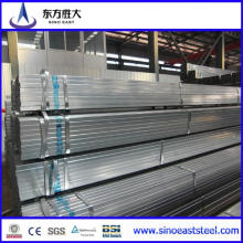 Tubo rectangular hueco de acero galvanizado