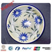 10.5 POUCES Plaques peintes à la main en grès turc, Plaques en céramique peintes à la main