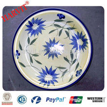 10.5 INCHES Turkish Stoneware hand painted plates, Ceramic hand painted plates