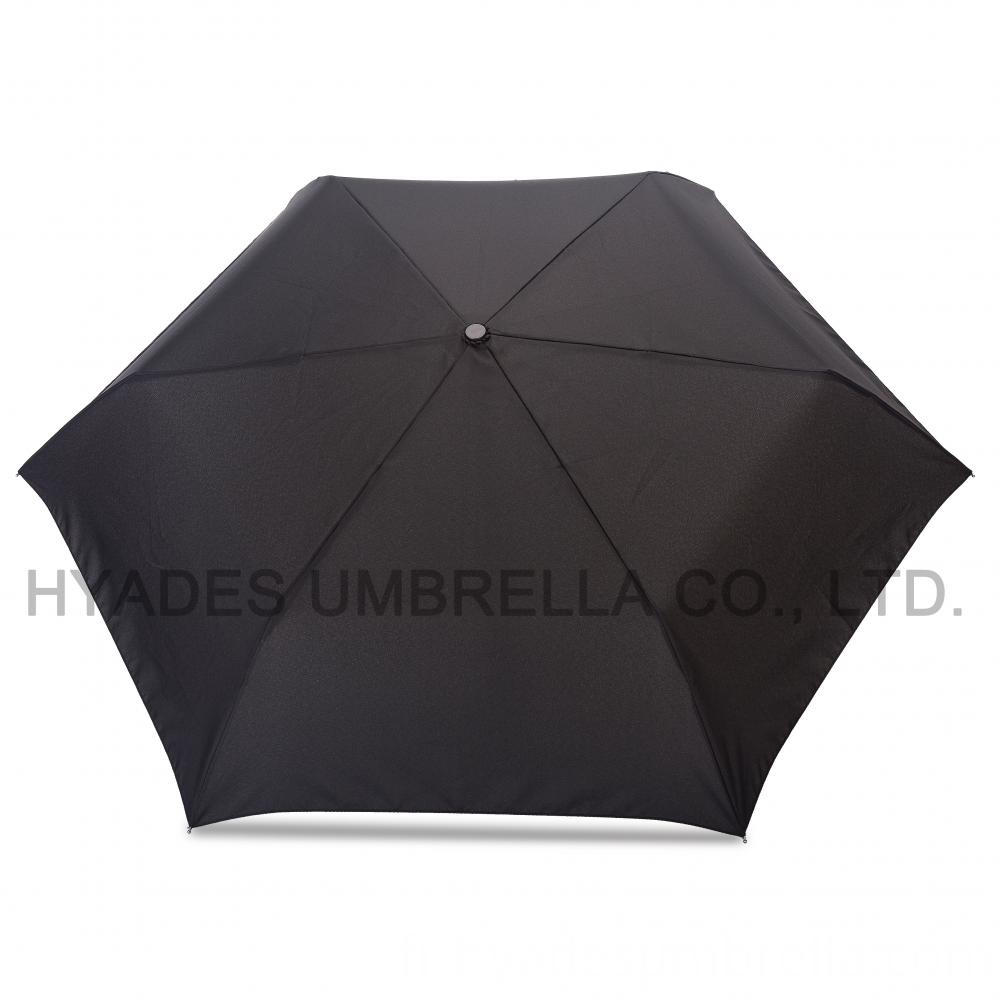 Auto open and close folding umbrella black
