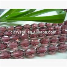 Perles de verre pendantes en cristal, perles de verre, perles d'olive de mode