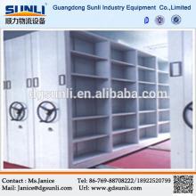 Prateleiras de biblioteca de aço móvel de armazenamento venda quente