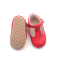 Fesyen Toddler Baby T-bar Genuine Leather Shoes Shoes