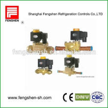 two way bi-flow brass electromagnetic Solenoid valves