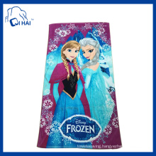 Cotton Printed Frozen Beach Towel (QH88132)