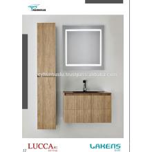 Современной экономической Ванная комната Vantiy с высокой тумбой и зеркалом