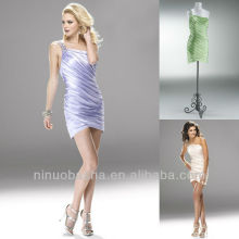 Lilac Apple Green Column One Shoulder Rhinestone Mini Short Homecoming Dress Graduation Gown