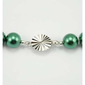 Green Pearl Necklace with Buddha Pendant