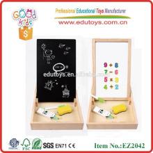 Nouveau produit Panneau blanc magnétique en bois naturel OEM en haute qualité Boîte à jeu magnétique avec motifs EZ2042