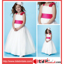 White Kids Wear Ball Gown Organza Organza Flower Girl Dress (6654)