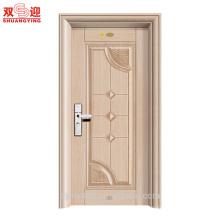 Puerta de entrada de edificio de apartamentos de acero de seguridad de acabado delicada hecha en China