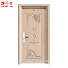 Delicate finishing security steel apartment building entry door made in China