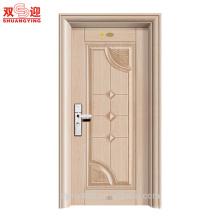 Тончайшая отделка безопасности здания стальной входная дверь сделано в Китае