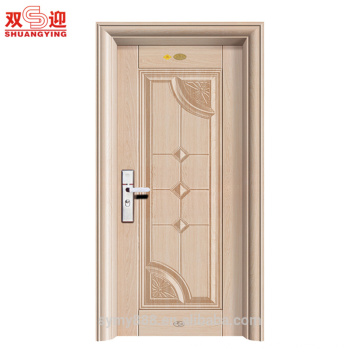 Finition délicate de sécurité porte d'entrée en acier de construction d'appartement fabriqué en Chine