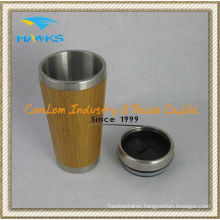 400ml Stainless Steel Bamboo Mug