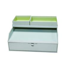 Caja de papel rígido para gabinete de colección de archivos de oficina pequeña