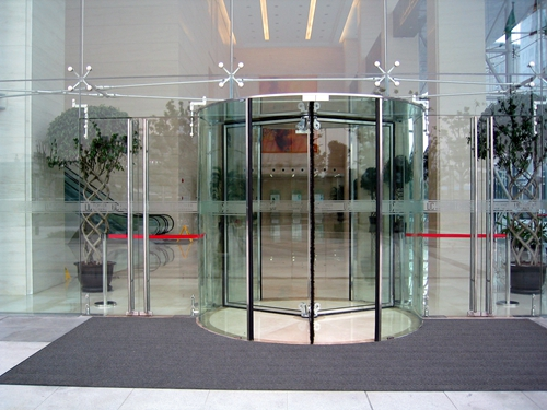 All Glass Revolving Doors for Hospitals