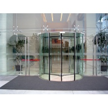 All Glass Revolving Doors with Sensors and Switches