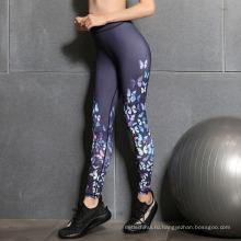 Горячая распродажа женщины мода печатных цветочные нового вида спорта микс леггинсы фитнес оптовая