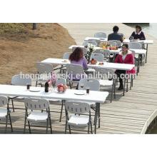 8 pies de mesa de molde de soplado de HDPE mesa de transporte plegable / fácil / tabla de pesca al aire libre barato camping