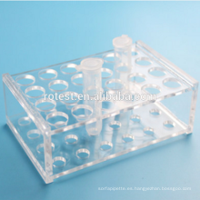 Tubo de ensayo de laboratorio y gradilla para tubos de centrífuga 5 ml 24 pocillos