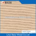 chapa de madera contrachapada / chapa cortada en rebanadas de 0.3mm para puerta de madera de reconstitución / chapa de madera de wengue recon.
