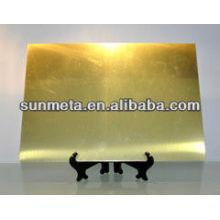 Fábrica directamente de sublimación metal hoja de nombre de tarjeta de nombre