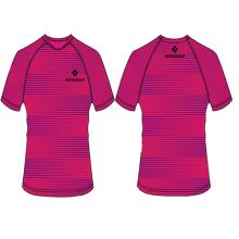 venda quente t-shirt design de moda de impressão por sublimação personalizado