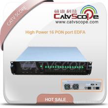 1550 нм высокой мощности 16 порт PON edfa с Усилитель Ea55-16