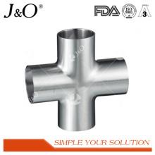 Sanitary Stainless Steel Cross Weld Tube Pipe Fitting