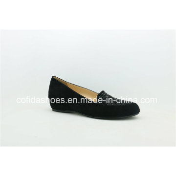New Arrival Comfort Wedge Heel Leather Lady Ballet Shoes