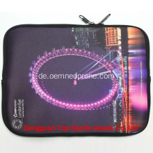 Mode Reißverschluss Dye Sublimation Neopren Laptop Sleeve