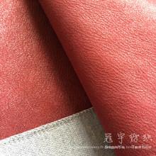 Polyester enduit Leatheroid sellerie tissu pour canapé