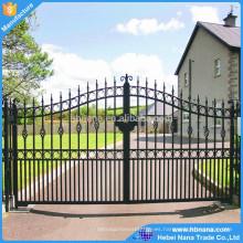las puertas de entrada de automóviles utilizaron diseño deslizante de estilo de aluminio / diseños de puertas de aluminio con precio de fábrica