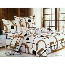 tela de seda para la cama púrpura de la raya 4 piezas de algodón ropa de cama funda nórdica sábana 100% natural